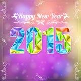 Retro- neues Jahr-Rahmen Lizenzfreie Stockfotografie