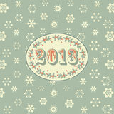 Retro new year background green Royalty Free Stock Images