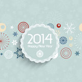Retro New Year background Stock Images