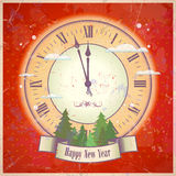 Retro New Year card. Royalty Free Stock Images