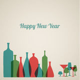 Retro New Year card Royalty Free Stock Images