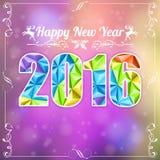 Retro New Year Frame Royalty Free Stock Photos