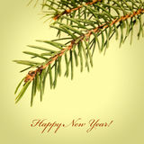 Retro New Year's card Stock Images