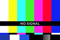 Free Retro No Signal Tv Test Screen Pattern Chart Stock Images - 136572844