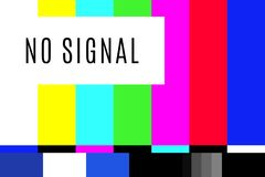 Retro no signal tv test screen pattern chart.  royalty free illustration