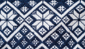 Retro Nordic Jersey Pattern Stock Images