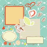 Retro note papers Stock Photo