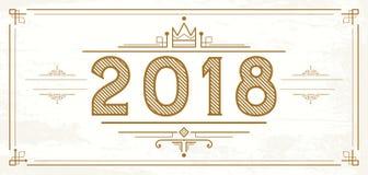 Retro 2018 Numbers. New Year Logo. Vector illustration vector illustration