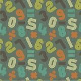 Retro_numbers-pattern-4 ελεύθερη απεικόνιση δικαιώματος