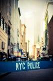 Retro NYC miejsce przestępstwa Fotografia Royalty Free