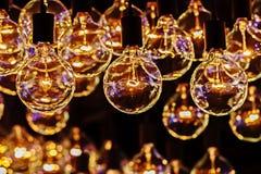 Retro Oświetleniowa żarówka Obrazy Royalty Free