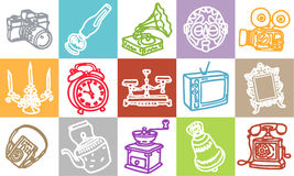 Retro objects vector illustration
