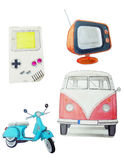 Retro objects icons Royalty Free Stock Images