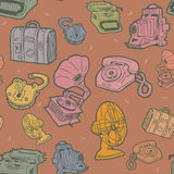Retro objects pattern Royalty Free Stock Images