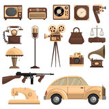 Retro Objects Set Stock Images