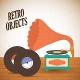 Retro objects vintage design Royalty Free Stock Image
