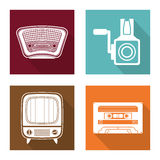 Retro objects vintage design Stock Photography