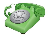 Retro Obrotowa telefonu wektoru kreskówka Royalty Ilustracja
