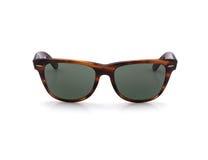 Retro occhiali da sole d'annata su fondo bianco Immagine Stock Libera da Diritti