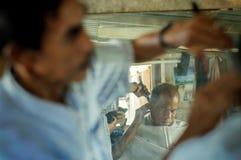 Retro Odbijający fryzjer męski Zdjęcie Stock