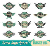 retro odznak etykietki Zdjęcie Royalty Free