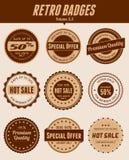 Retro odznaki Obraz Stock