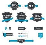 Retro odznaki & emblematy Zdjęcie Stock