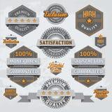 Retro odznaki i etykietki ilustracja wektor