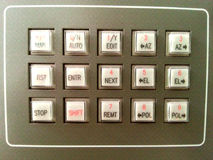 Retro office phone buttons Stock Photos