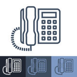 Retro Office Phone Outline Icons Royalty Free Stock Photo