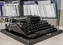 Retro office typewriter Royalty Free Stock Photos