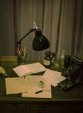 Retro office, vintage Stock Image