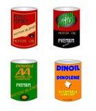 Retro oil cans Stock Photo