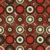 Retro okręgu wzoru kolorowy abstrakcjonistyczny tło Obrazy Royalty Free