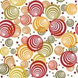 retro okręgu abstrakcjonistyczny wzór Obraz Royalty Free