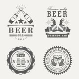 Retro or old beer badges or signs Stock Images