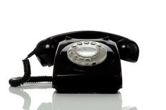 Retro old black telephone Royalty Free Stock Images