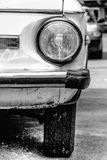 Retro old car bumper Royalty Free Stock Image