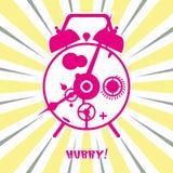 Retro old clock. Vector illustration retro old clock ringing in the morning vector illustration