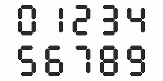 Retro old digital watch clock display numbers background vector Royalty Free Stock Photography