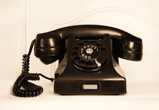 Retro old fashioned rotary dial phone Stock Photos