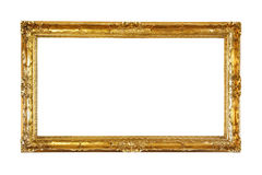 Retro old gold frame Royalty Free Stock Photography
