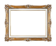 Retro old gold frame Royalty Free Stock Images