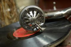 Retro old gramophone Royalty Free Stock Image