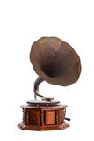 Retro old gramophone. Royalty Free Stock Images