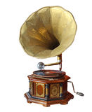 Retro old gramophone with horn Royalty Free Stock Photography