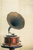 Retro old gramophone. Stock Image