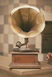 Retro old gramophone radio. Vintage style toned photo.  Royalty Free Stock Photos