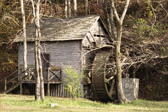 Retro Old Grist Mill. Vintage image of replica of the old 1825 Tink McCoy grist mill in Big Ridge State Park, Tennessee. Noise added Royalty Free Stock Image