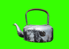 Retro old kettle isolate Royalty Free Stock Image
